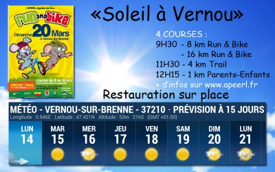 Ce week-end c'est Run and Bike sous le soleil de Vernou !